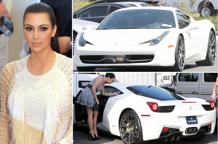 Kim Kardashian – Ferrari 458 Italia Estimated 325K