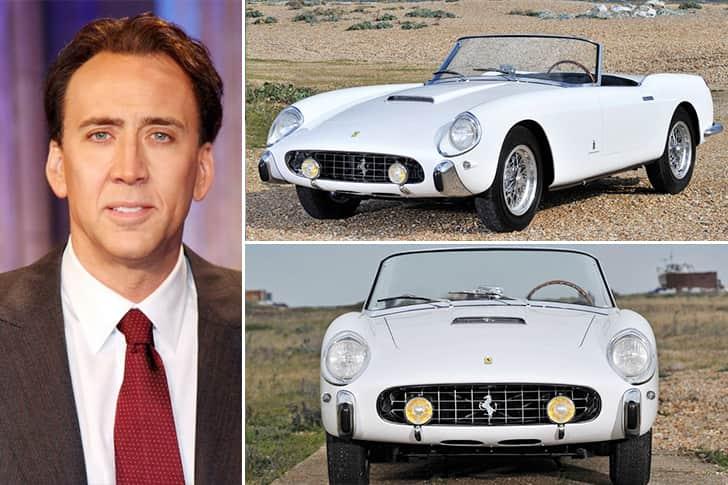 Nicolas Cage – 1958 Ferrari 250 GT Pininfarina Estimated 3.6 Million