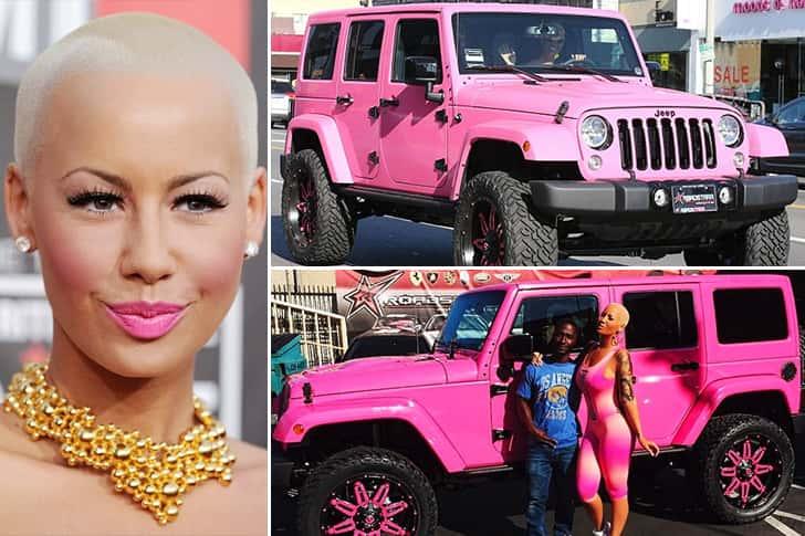Amber Rose – Pink Jeep Wrangler Unlimited Estimated 150K