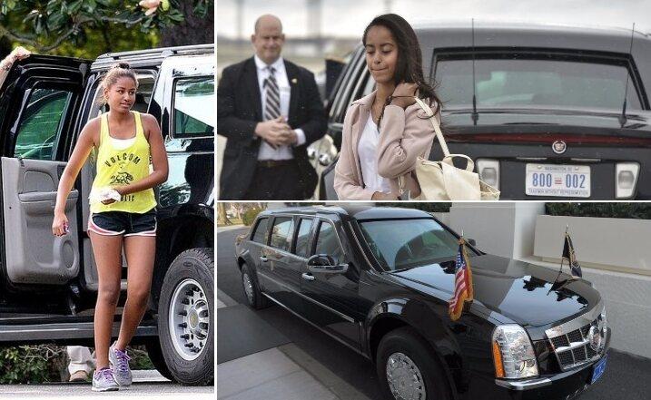 """Malia And Sasha Obama – """"The Beast"""" Or """"Limousine One"""" Estimated 1.5M"""