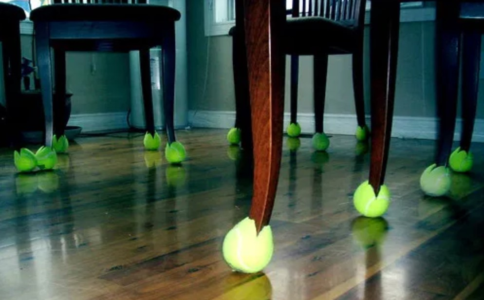 Tennis Balls Can Protect Your Floors