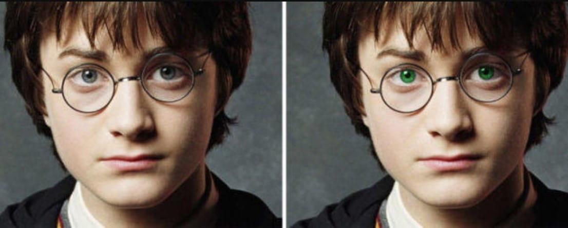 Harry's Green Eyes